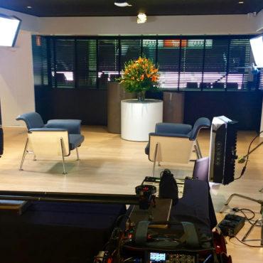 Service per NBC- Universal, gravació a Barcelona d'una entrevista a Shakira.